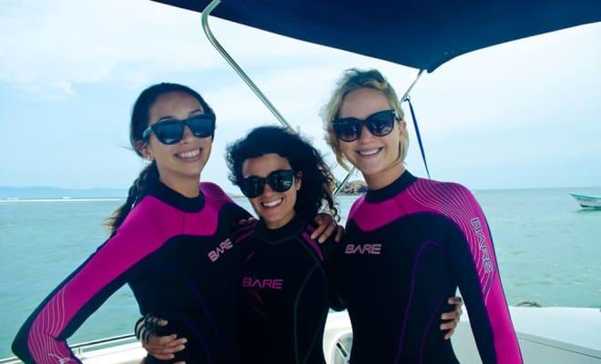 Jennifer Lawrence spearfishing Mexico