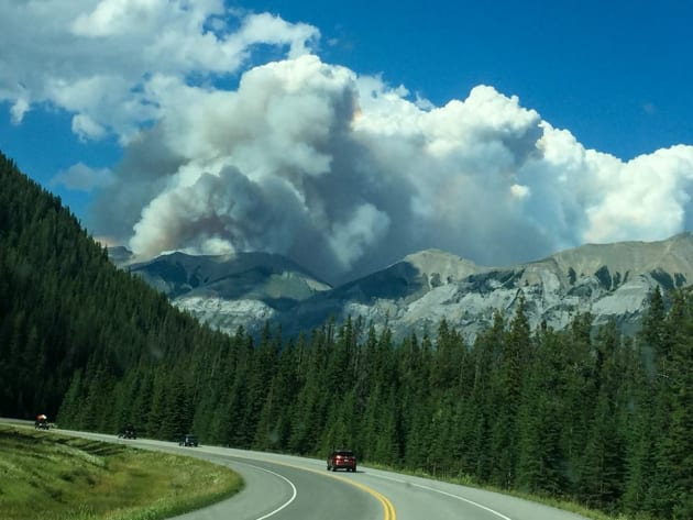 Wildfire prompts closures in Banff, Kootenay parks