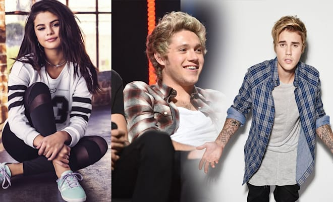 Selena Gomez Niall Horan and Justin Bieber