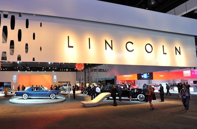 Lincoln display at the 2012 LA Auto Show