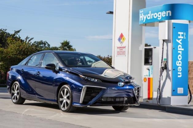 2014 Toyota Mirai by hydrogen station