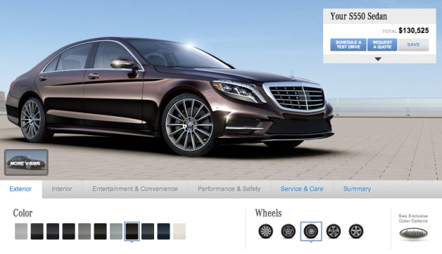 Go nuts with the 2014 mercedes benz s class configurator for Mercedes benz s class colours