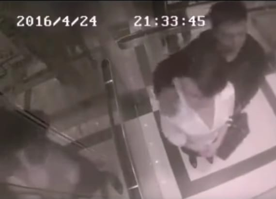 Woman beats up man who harassed her in an elevator