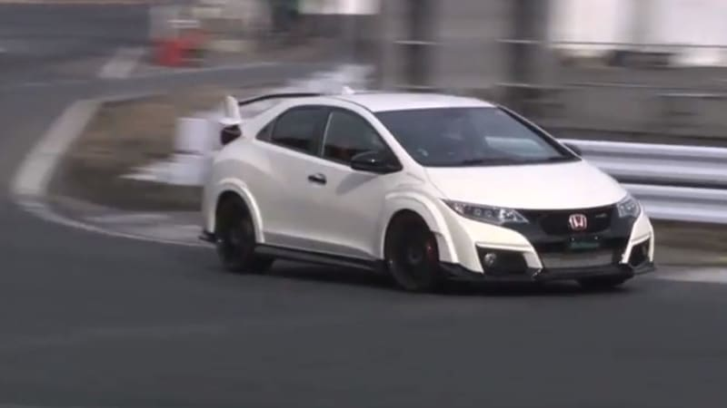 watch the latest civic type r hit the track in japan. Black Bedroom Furniture Sets. Home Design Ideas