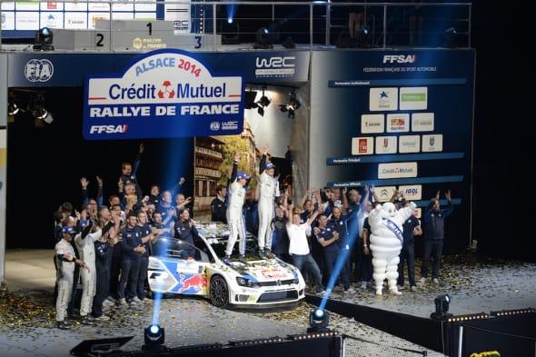 Jari-Matti Latvala (FIN), Miikka Anttila (FIN)Volkswagen Polo R WRC (2014)WRC Rally France 2014