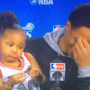 DeRozan's daughter is adorable during postgame