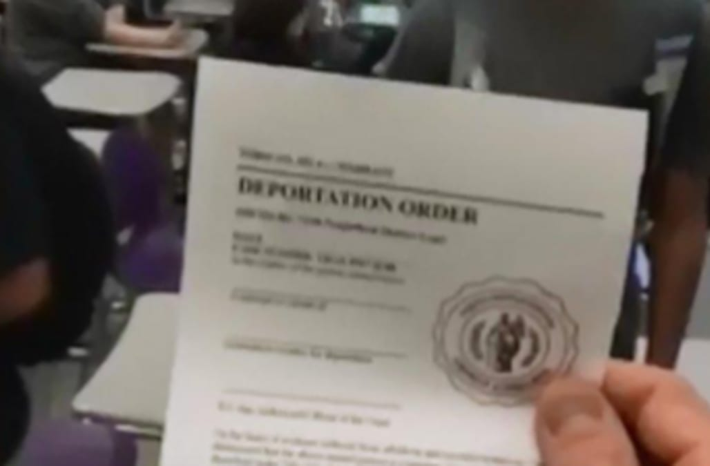 Shasta High School Deportation Letter