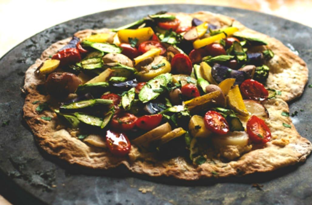 Flatbread Pizza with Asparagus & Baby Potatoes - AOL.com