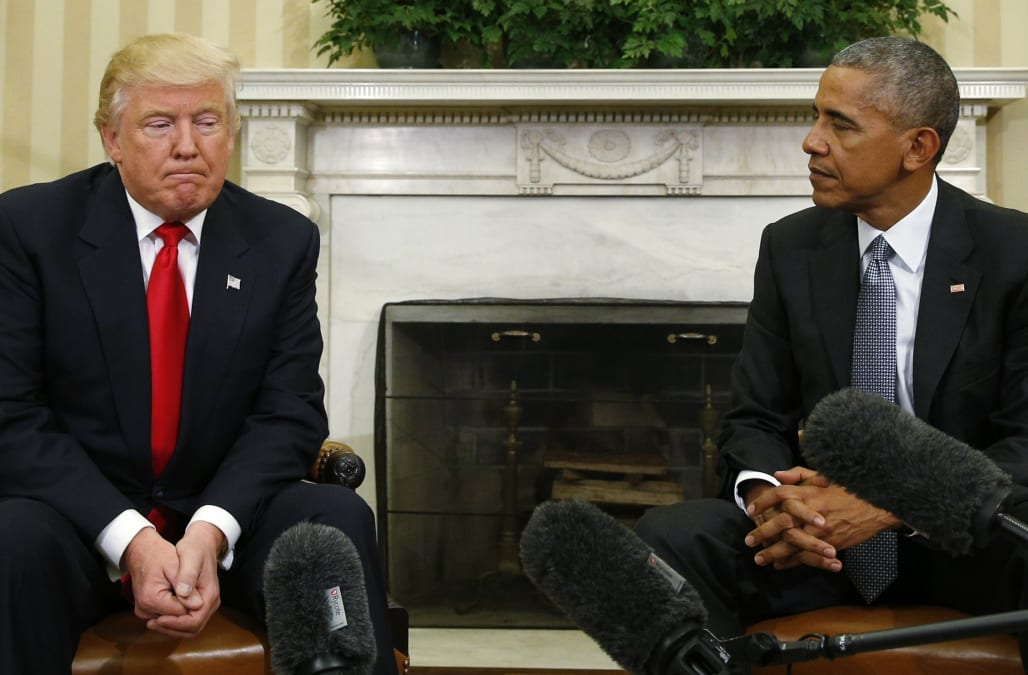 news people donald trump barack obama transition inaugruation twitter tweet