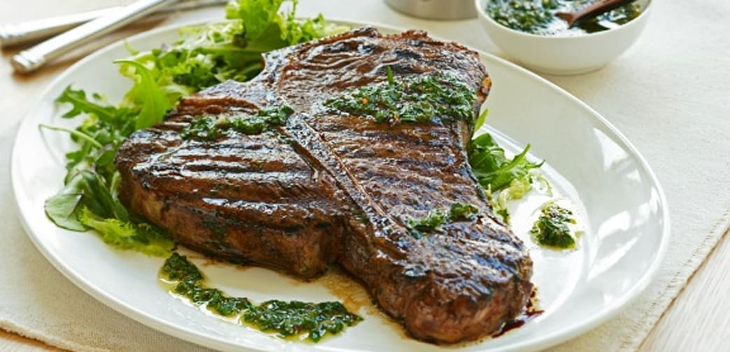 Grilled T-Bone Steaks with Chimichurri Sauce - AOL Food