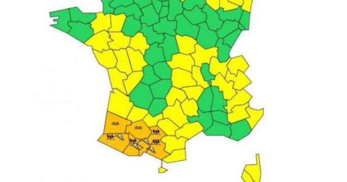 M t o vigilance orange aux inondations dans 8 - Meteo france compiegne ...