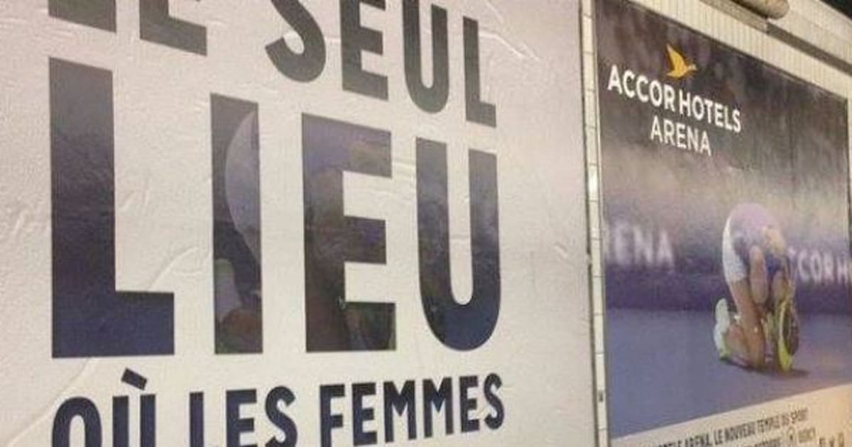 Photos cette publicit de accorhotels arena paris est accus e de sexisme - Charline vanhoenacker vie privee ...