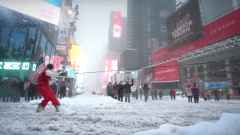 Winter storm got you down? Try snowboarding through Manhattan