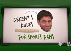 Greeny reminds us of some important rules for fans