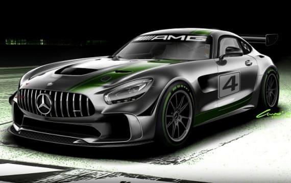 メルセデス・ベンツ、開発中の新型レースカー「メルセデスAMG GT4」を発表