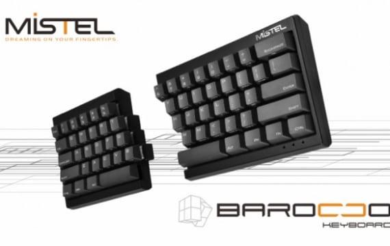 超コンパクトな左右分離型キーボード『Mistel Barocco』が10月末に日本発売。右側部のみでのフルキー操作も