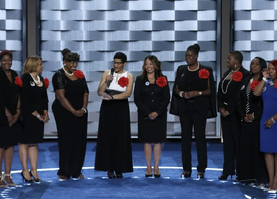 Mothers of the Movement make emotional plea at DNC