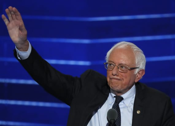 Sanders' supporters shout him down at DNC