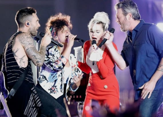 Watch 'The Voice' coaches jam out to 'Dream On'