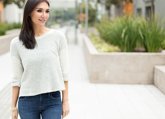 An easy, breezy, effortless sweater