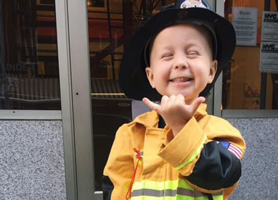 NYC Fire department honors 3-year-old cancer patient