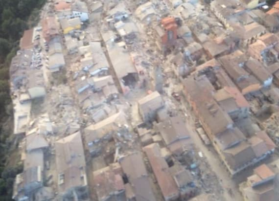 Photo shows level of destruction of Italy earthquake
