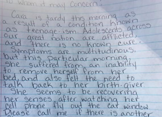 Mom's letter tp daughter's school goes viral