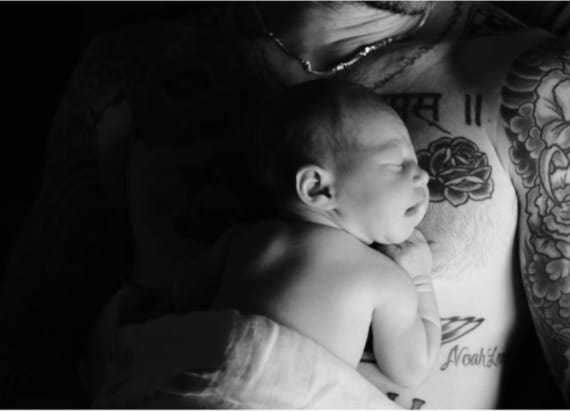 Adam Levine shares adorable first photo of daughter