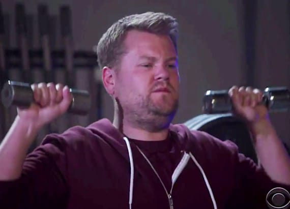 James Corden spoofs Kanye West's 'Fade' music video