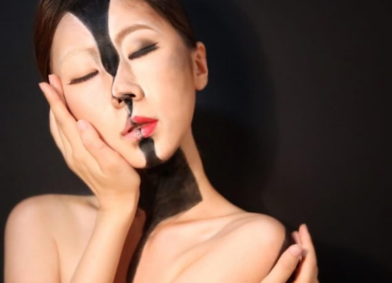 College student transforms into optical illusions