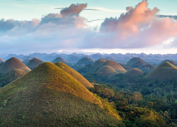 The 'Chocolate Hills of Bohol' has a sweet story