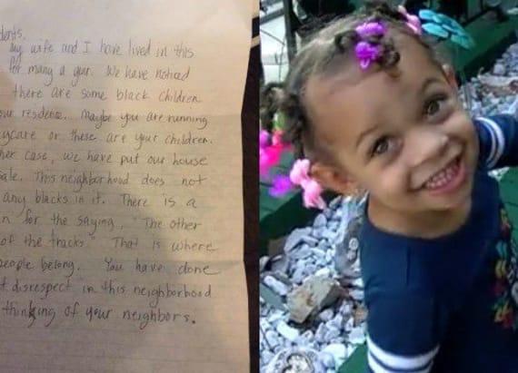 Neighbors send racist letter to Kansas family