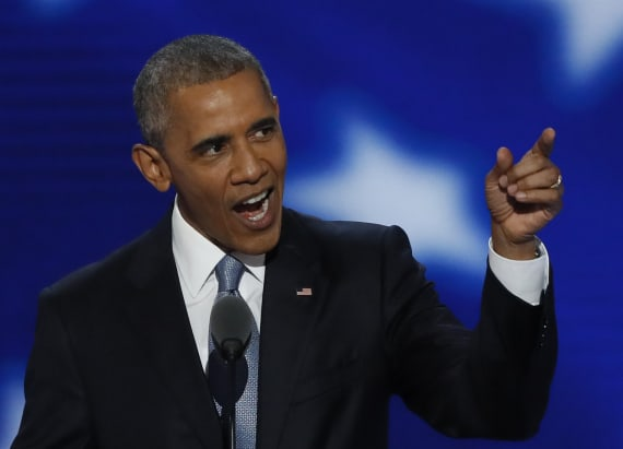 Protester heckles Obama during DNC speech