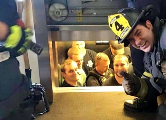 Elevator rescue photo goes viral