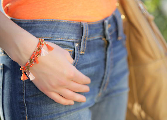Casual cool: colorful wrap bracelets