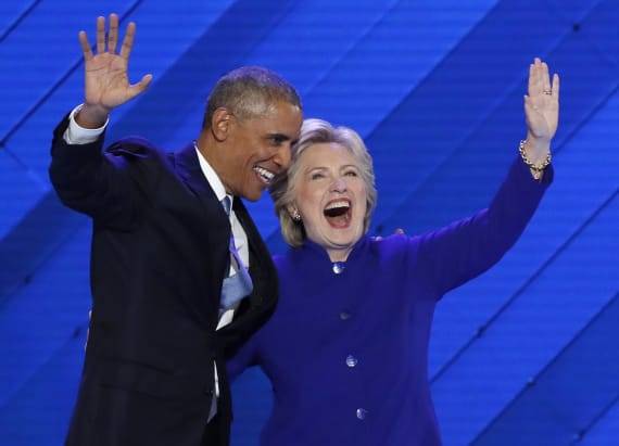 Obama cracks joke about Bill Clinton at the DNC