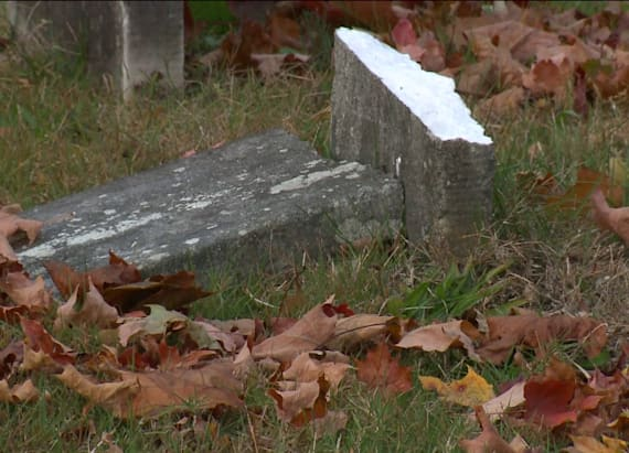 Dozens of statues stolen from cemetery