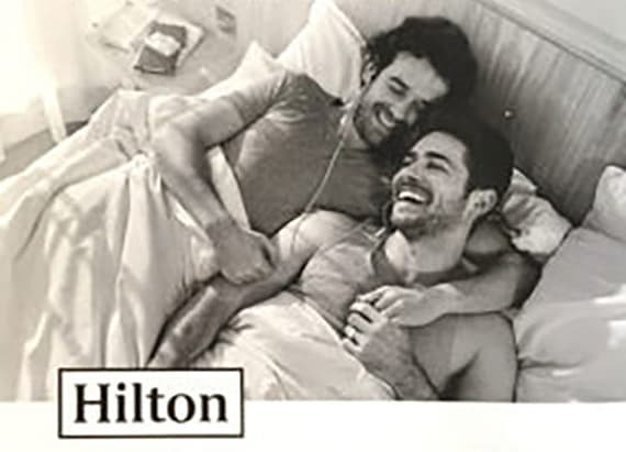 Hilton Hotel ad sparks controversy