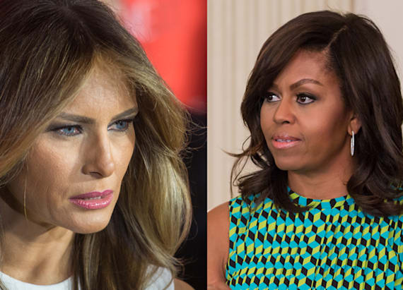 Meme of Melania and Michelle Obama picks up steam