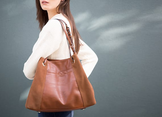 Shop this video: A real suede hobo for under $80