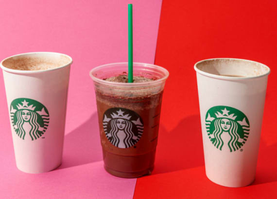 Starbucks came out with 3 new drinks for Valentine's Day — here's what they taste like