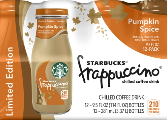 Starbucks reveals Pumpkin Spice Bottled Frappuccino