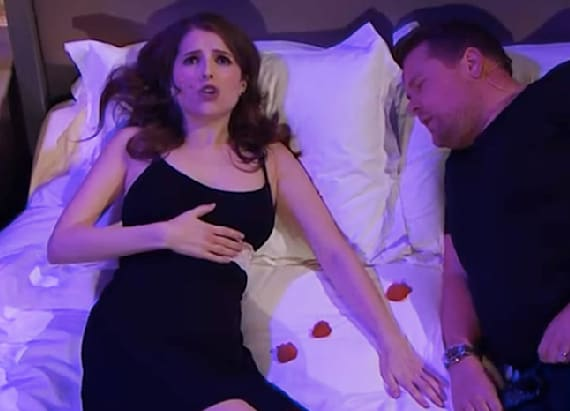 Anna Kendrick belts out love songs with James Corden