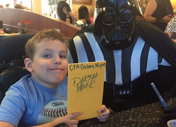 Chick-fil-A workers make boy in wheelchair's day