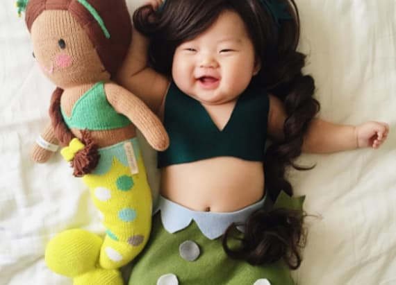 Mom transforms baby into characters while she sleeps