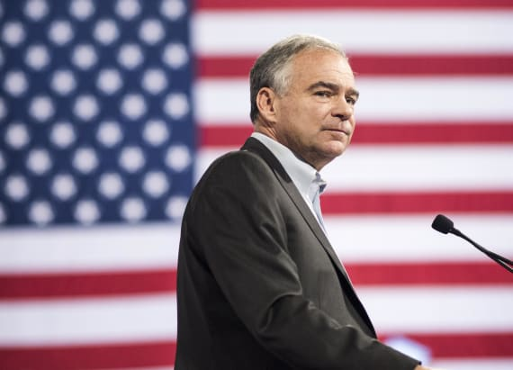 Tim Kaine and Hillary Clinton split on key issue