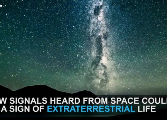 Signals found in space might be linked to aliens
