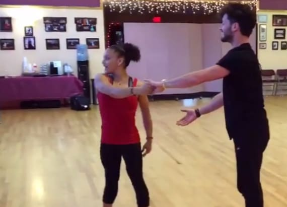 Laurie Hernandez is crushing it in 'DWTS' rehearsals