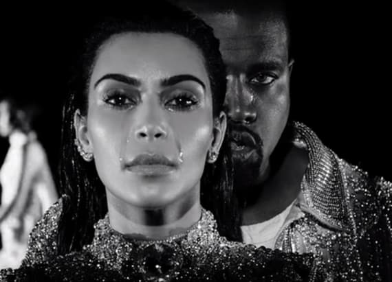 Kanye West and Kim Kardashian cry in 'Wolves' video
