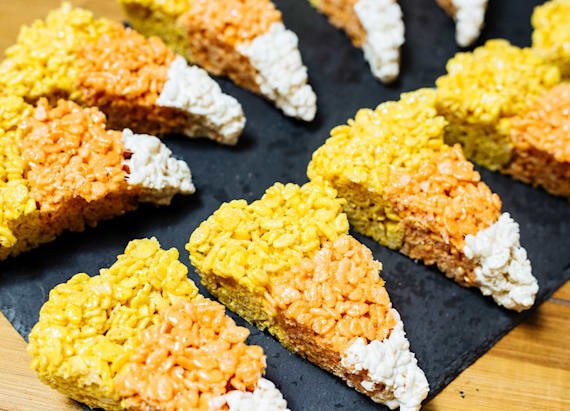 Best Bites: Marshmallow candy corn rice krispies